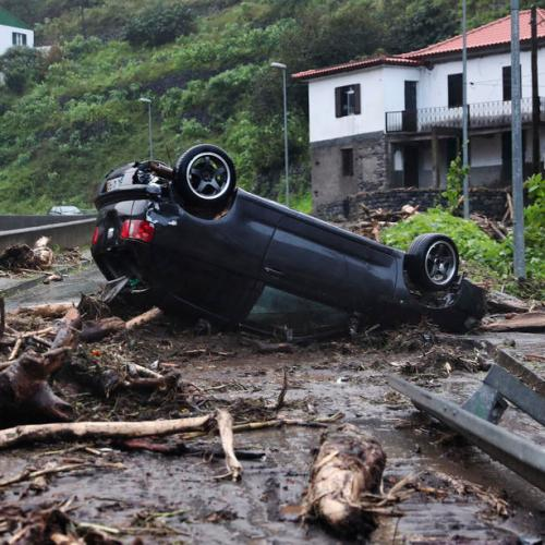 Photo Story: Madeira Island in Portugal hit by powerful storm