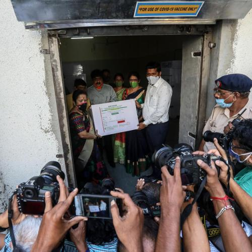 Photo Story: COVID-19 vaccine arrives in Mumbai, India