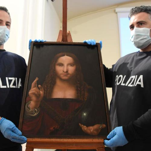 Photo Story: Salvator Mundi: stolen Leonardo-school painting found in Naples flat