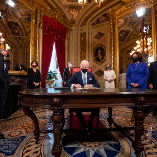 U.S. President Biden takes over nation in crisis, urges end to 'uncivil war' – UPDATE