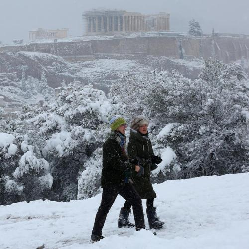 Photo Story: Heavy snowfall in Athens