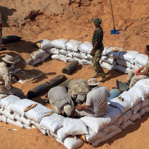 Closed highway and dangerous desert detour underline challenges to Libyan peace