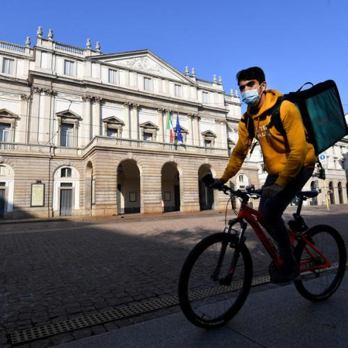 Milan prosecutors order food delivery groups to hire riders, pay 733 million euros in fines