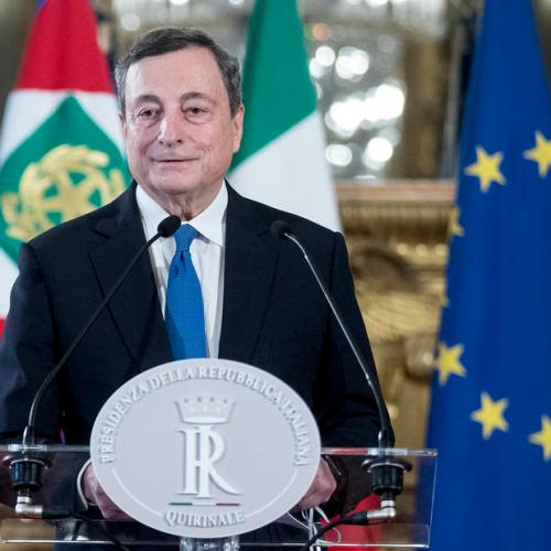 Italy's Draghi seeks party backing to end political turmoil