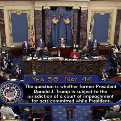 Majority of U.S. Senate says Trump impeachment trial is constitutional