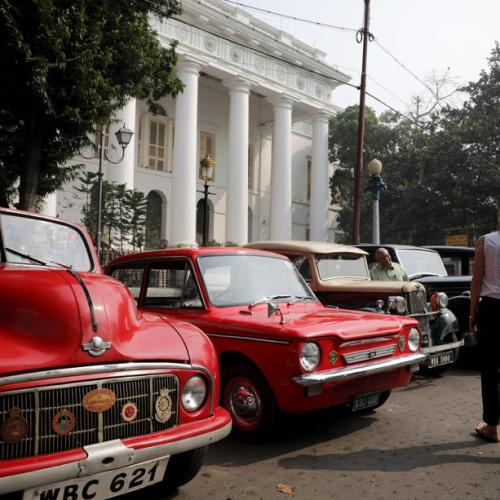 Photo Story: Vintage car rally on Valentine's Day in Kolkata