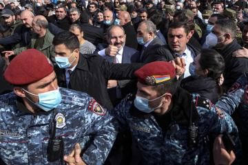 UPDATED: Tension in Armenia as PM says army's call for him to resign is coup attempt
