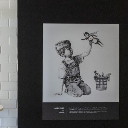 Banksy to auction Southampton hospital artwork for NHS