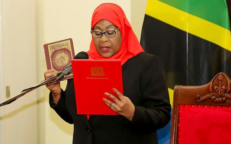 UPDATED: Tanzania swears in Samia Suluhu Hassan as first female president