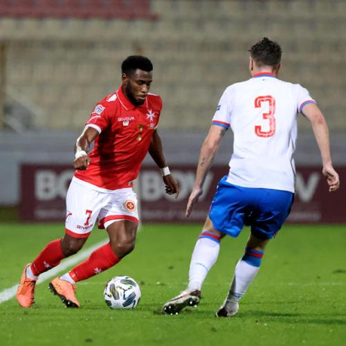 Mbong strike not enough for Malta as national team succumbs to Russia