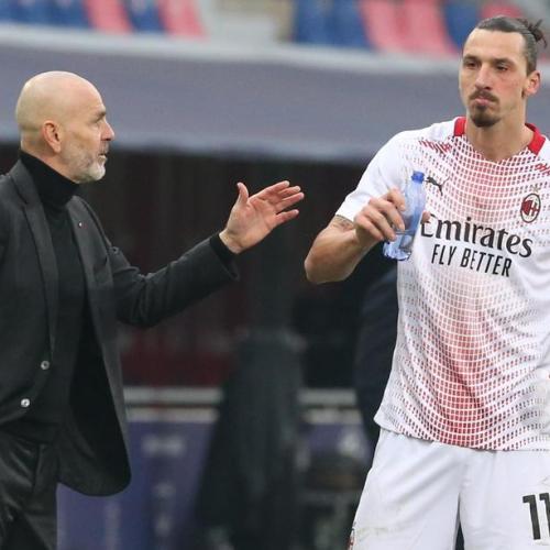Pioli says Milan striker Ibrahimovic is fit to face Man United