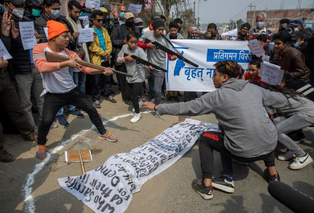 Photo Story: Protest against Myanmar military coup, in Kathmandu