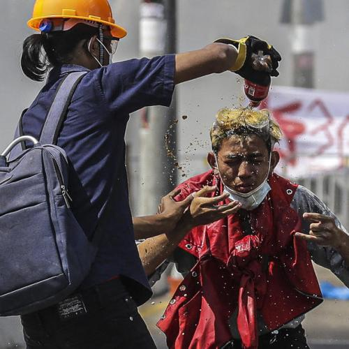 Protests erupt across Myanmar; police fire tear gas at Mandalay sit-in