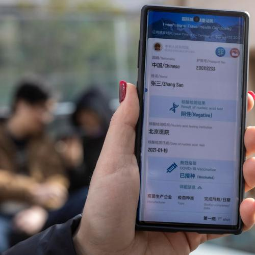 Photo Story: China's international travel health certificate app for smartphones