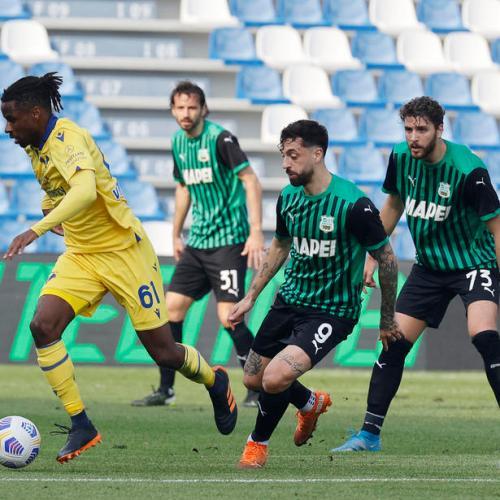 Sassuolo edge Verona 3-2 in Serie A