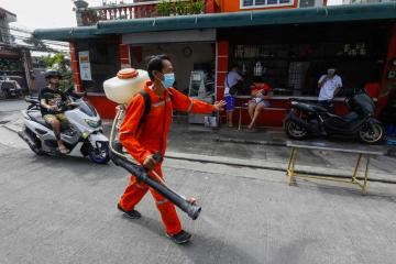 Photo Story – Disinfection campaigns in Quezon City, Metro Manila, Philippines