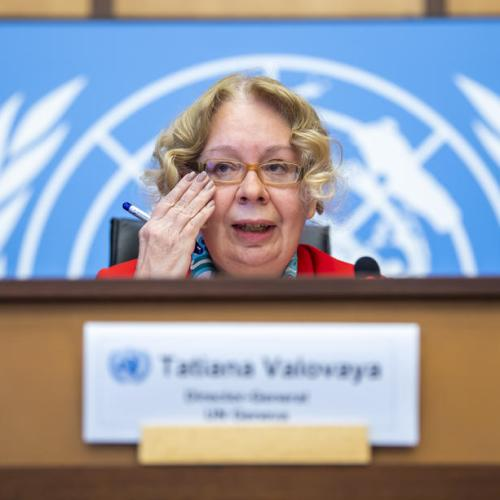 Photo Story – Director-General of the United Nations Office at press conference in Geneva