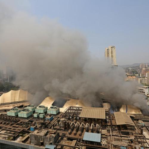 Photo Story – Fire at COVID Hospital in Mumbai