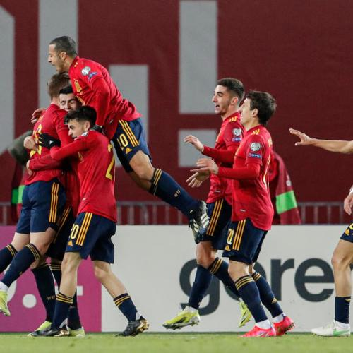 Spain coach relieved by late winner, braced for more nervy games