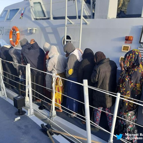 Libyan coast guard saves over 100 migrants