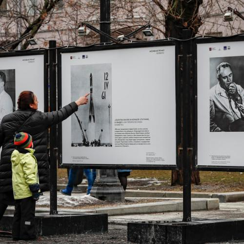 Photo Story: Outdoor exhibition on 1st human spaceflight in Moscow
