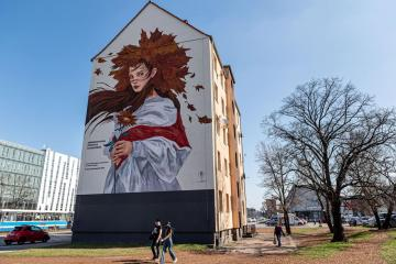Photo Story: Mural in Poland dedicated to the Belarusian opposition