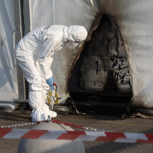 Petrol bombs thrown at the COVID19 vaccination centre in Brescia