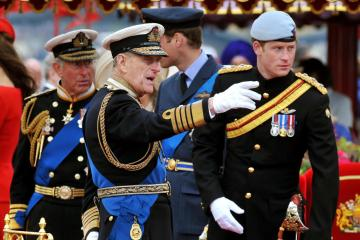 Prince Harry praises Philip for 'dedication to Granny'