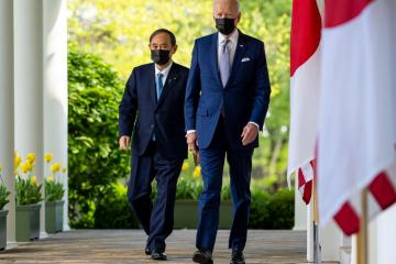 Biden and Japan's Suga project unity against China's assertiveness