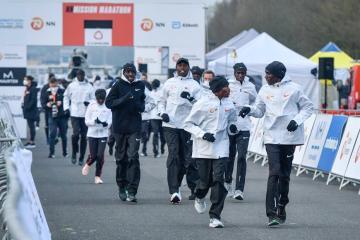 Kenya's Kipchoge eases to victory in NN Mission Marathon