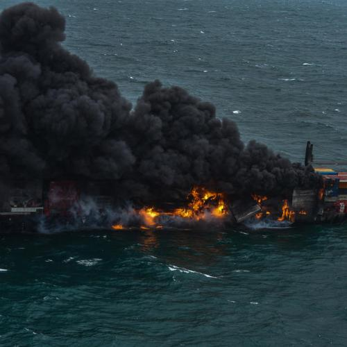 UPDATED: Photo Story: Container ship on fire off the coast of Sri Lanka