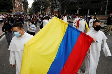 Colombians hold eighth day of protests after overnight violence