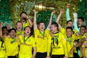 Sancho, Haaland doubles fire Dortmund to German Cup glory