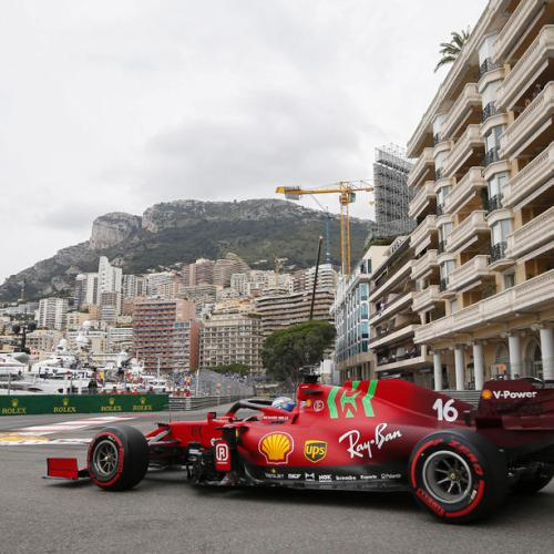 Leclerc crashes to pole position in Monaco