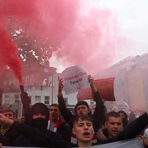 Photo Story – Protest outside Emirates Stadium, London