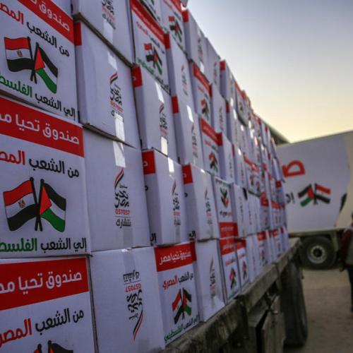 Photo Story – Egyptian aid to Gaza