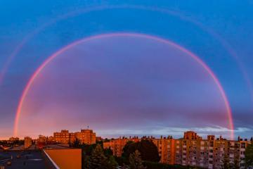 Photo Story – Rainbow above Nagykanizsa during sunset