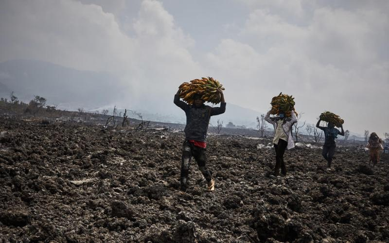 Photo Story – Aftermath of Nyiragongo volcano eruption