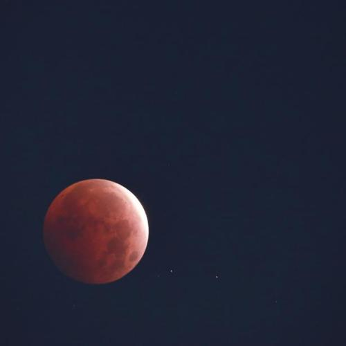 Photo Story – Red Moon seen from western Mexico