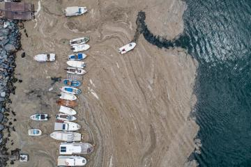 Photo Story: Marmara Sea covered by sea snot in Istanbul
