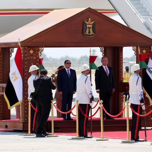 'Arab Alliance' meets in Iraq in first visit in decades for an Egyptian leader