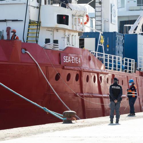 Sea rescue ship Sea-Eye 4 held at Palermo port