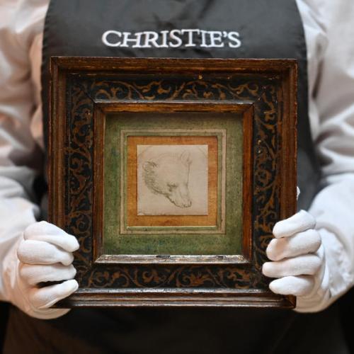 Photo Story – Leonardo Da Vinci's Head of a Bear goes to auction