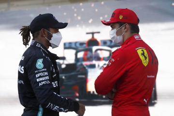 Ferrari's Leclerc claims Azerbaijan GP pole ahead of Mercedes' Hamilton