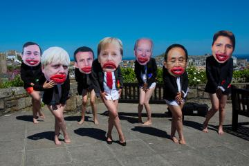 Photo Story – 'All mouth and no trousers', Extinction Rebellion protest at G7 summit