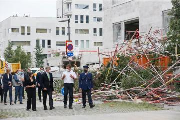 Five people have died after a school building site collapsed in Belgium