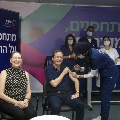 Israel's president launches drive to give third COVID-19 shot to over-60s