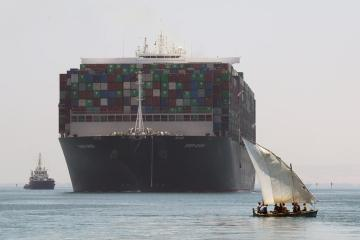 UPDATED: Ever Given container ship begins exit from Suez Canal