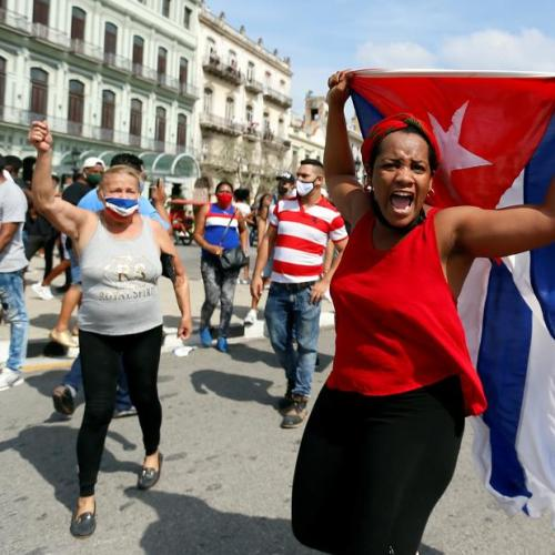 Cuban president claims unrests pushed by US as Biden backs protests