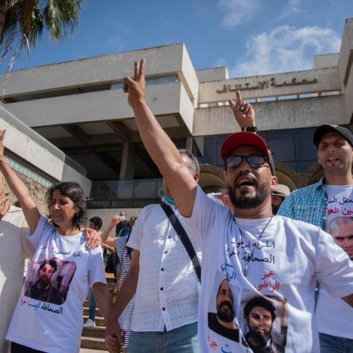 Photo Story – Moroccan journalist Omar Radi sentenced to six years in jail
